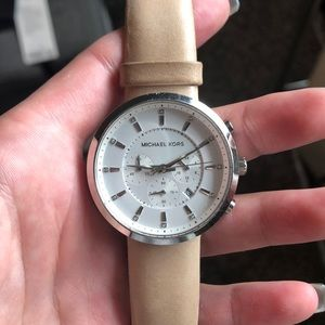 Michael Kors watch with leather band
